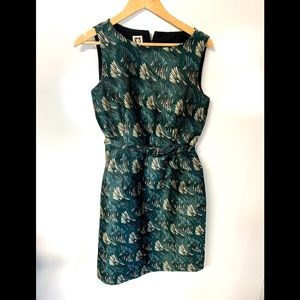 Anne Klein feather print fit and flare dressy